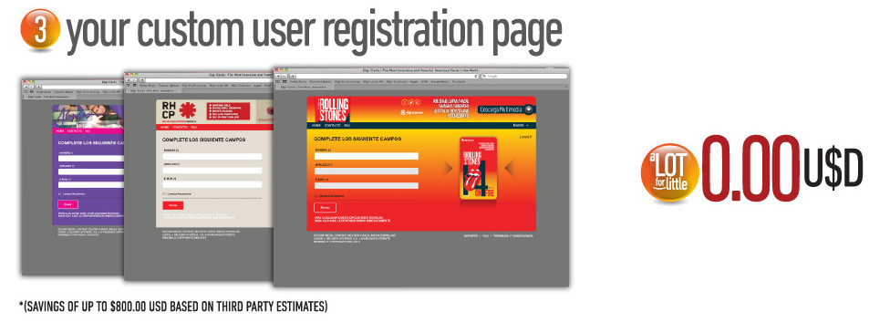 Your custom user registration page