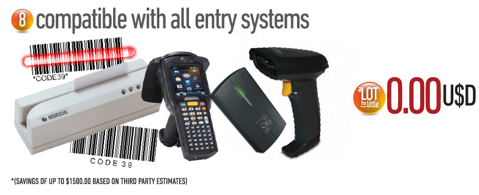 Compatible with all entry systems